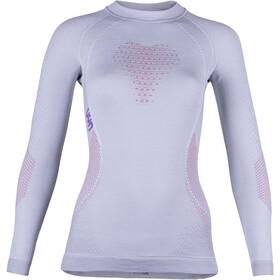 UYN Fusyon UW LS Shirt Damen light grey/salmon/purple